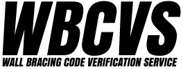 WBCVS – WALL BRACING CODE VERIFICATION SERVICE Logo